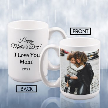 Sublimation Color Imprinted Ceramic Mug Photo Gift