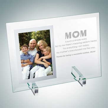 Jade Vertical Mirror Photo Frame with Stand