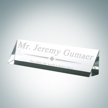Slant Front Nameplate