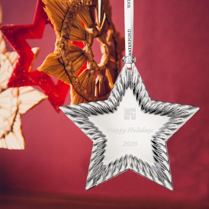 Waterford Star Ornament lifestyl