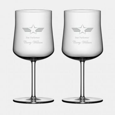 Orrefors Informal Wine Glass Pair