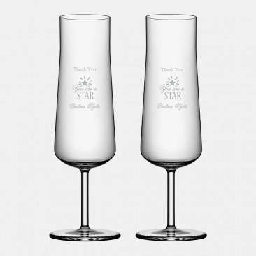 Orrefors Informal Champagne 7.4oz, Pair