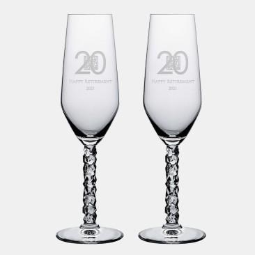 Orrefors Carat Champagne 8oz, Pair