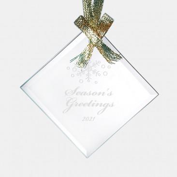 Jade Beveled Square Diamond Ornament