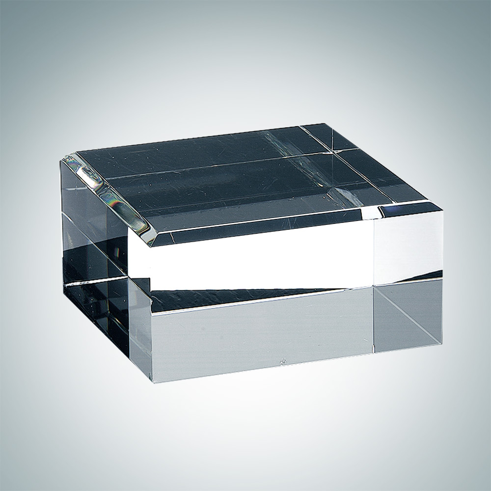 Square Crystal Base with Engraving and Gift Box