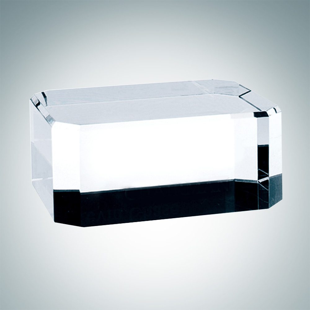 Rectangle Crystal Base with Engraving and Gift Box