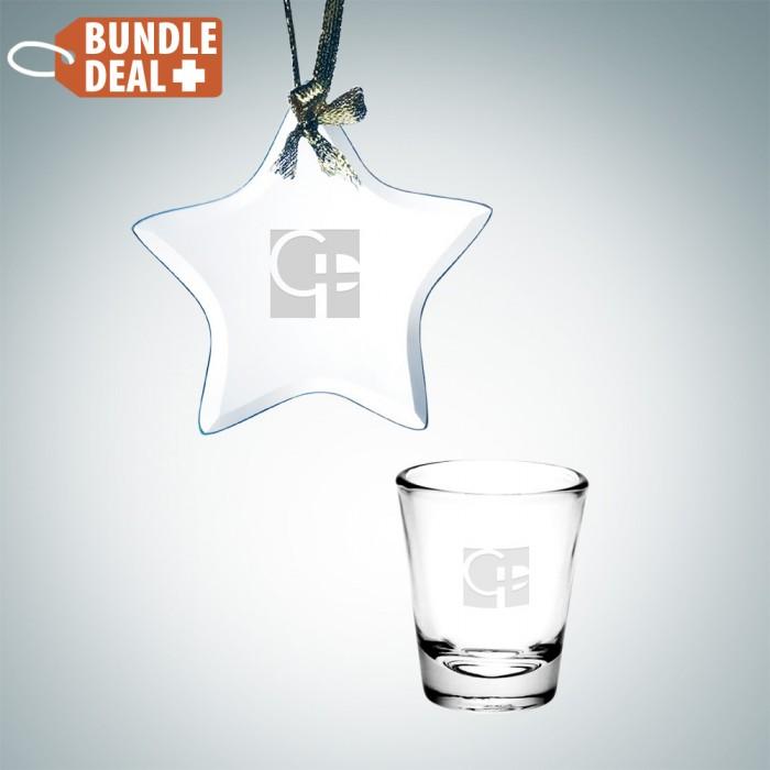 Star Ornament and Shot Glass Set