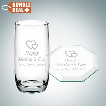 Cooler Cup and Octagon Coaster Gift Set