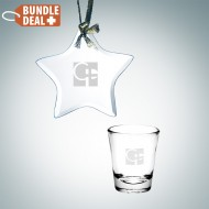 Star Ornament and Shot Glass Gift Set