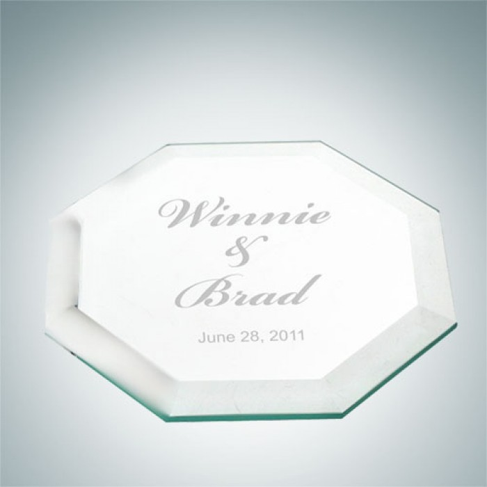 Octagon Glass Coaster- Single