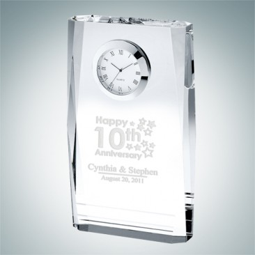 Beveled Plaque Clock