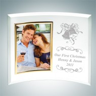 Curved Vertical Gold Photo Frame