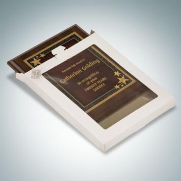 Academic Genuine Cherrywood Finish Vertical Photo Frame Plaque