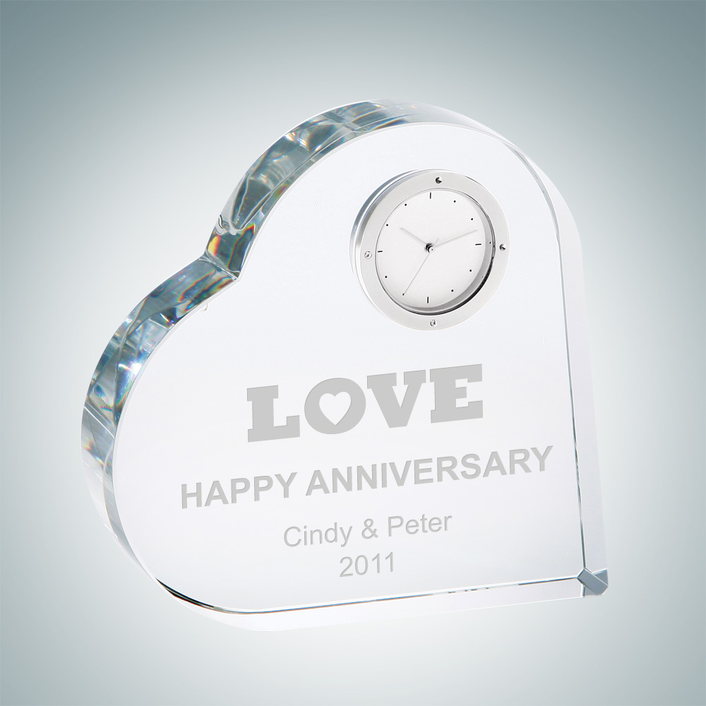 Heart Keepsake Clock