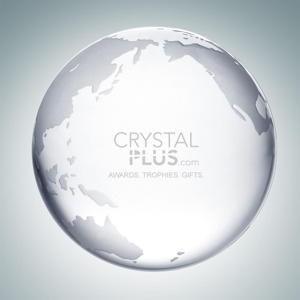 Clear Ocean Globe - Small
