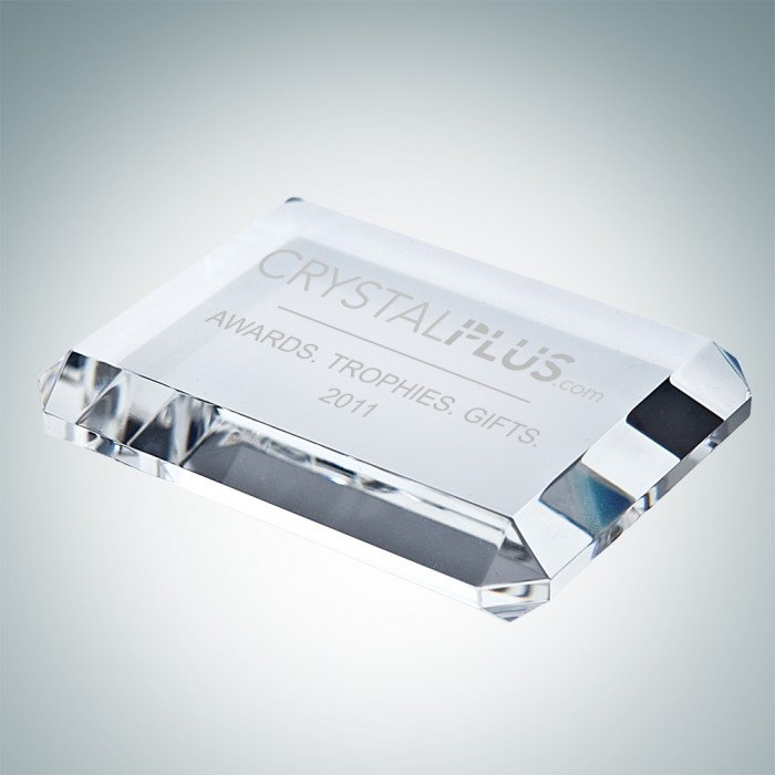 Beveled Rectangle Paperweight