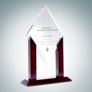 Alpha Crystal Diamond Award with Wood Stand