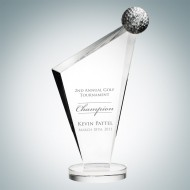 Engraved Optic Crystal Golf Conception Award
