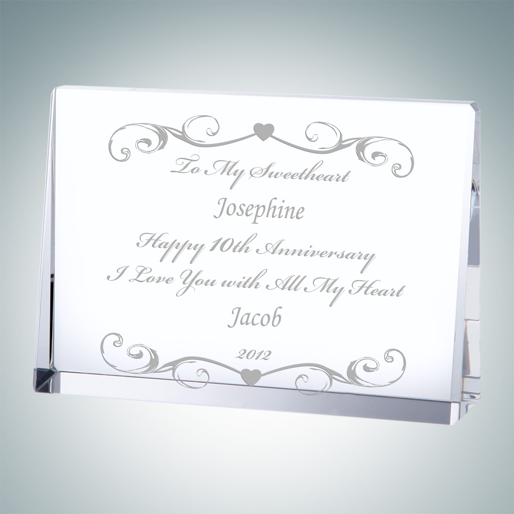Horizontal Rectangle Plaque - Medium