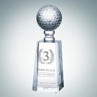 Engraved Optic Crystal Golf Award