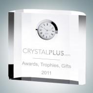 Fantasy Block Engraved Optical Crystal Clocks