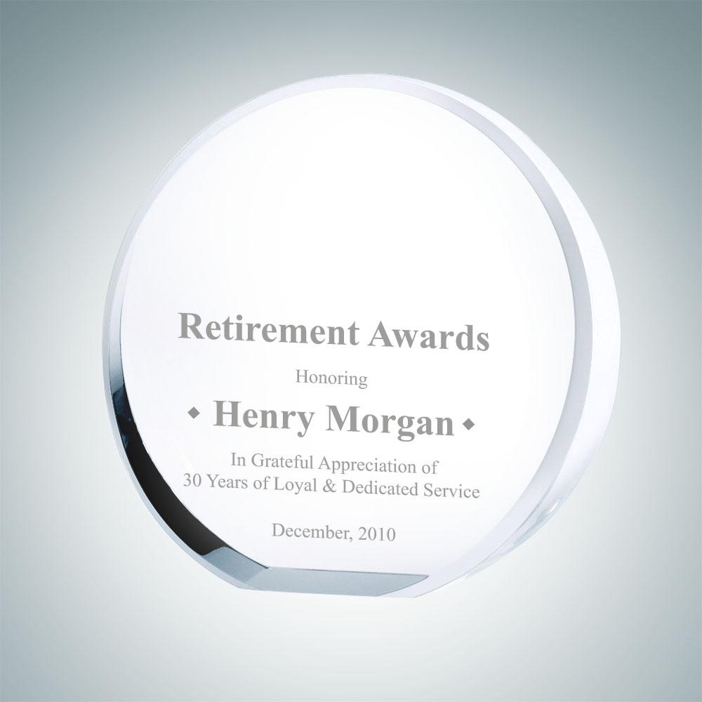 Beveled Circle Award - Medium