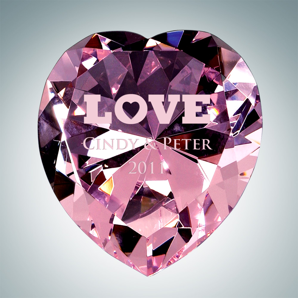 Now & Forever Pink Diamond Heart – Large
