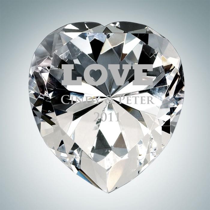 Now & Forever Clear Diamond Hear