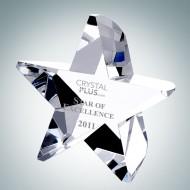 Engraved Optic Crystal Starburst Award