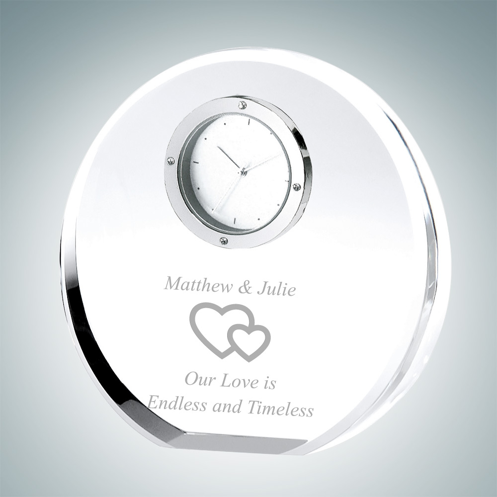 Beveled Circle Anniversary Clock