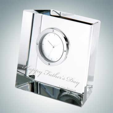 Father's Day Slanted Block Clock