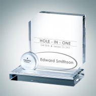 Engraved Optic Crystal Hole in One Award