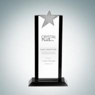 Optical Crystal Flair with Metal Star Award
