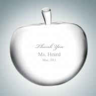 Engraved Optic Crystal Apple