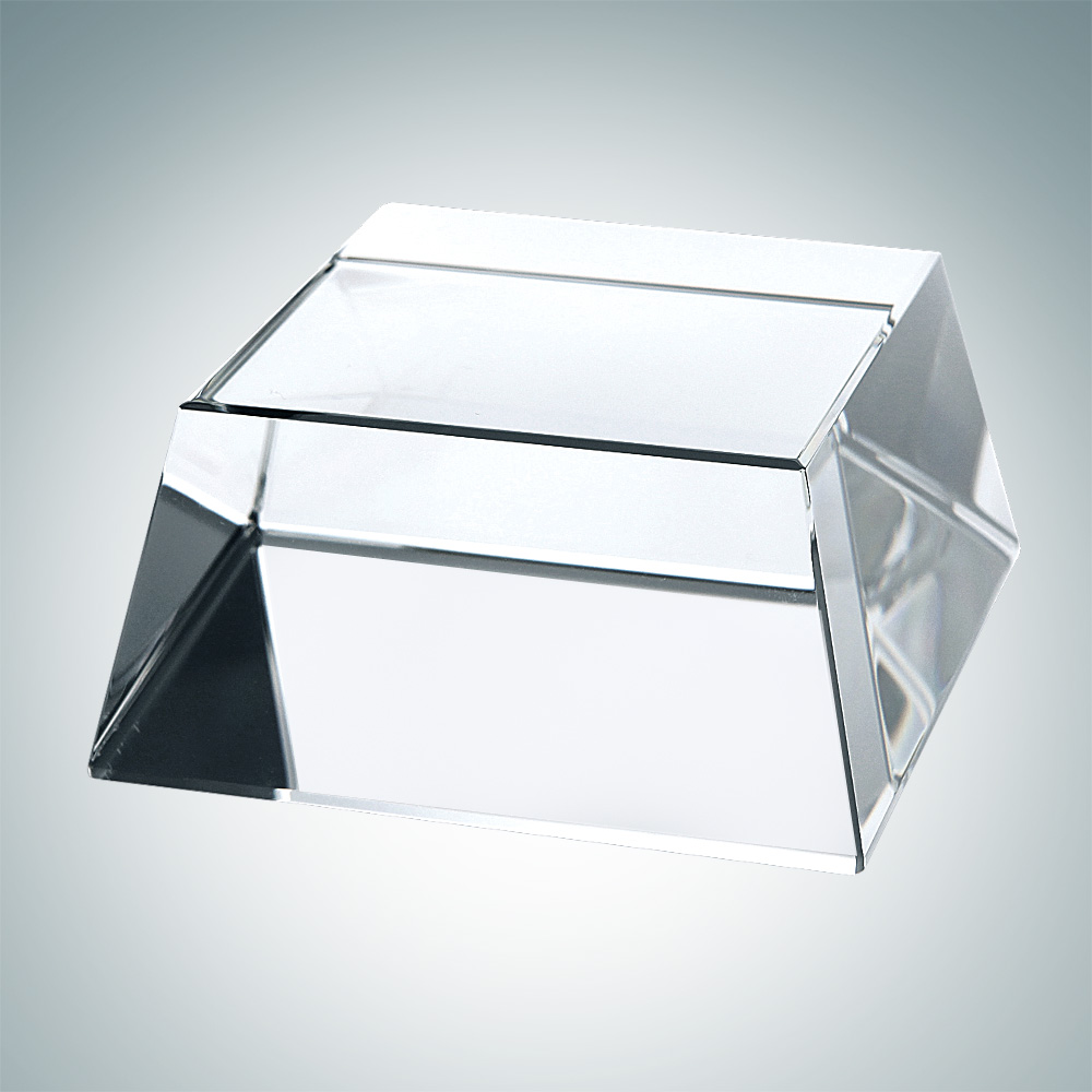 4 Side Slant Crystal Base with Engraving and Gift box