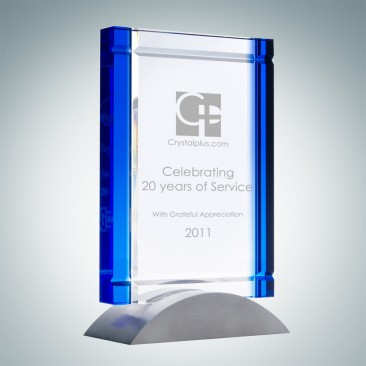 Blue Deco Award (Aluminum Base)