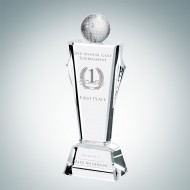 Engraved Optic Crystal Golf Conqueror Award