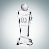 Engraved Optic Crystal Golf Conqueror Award