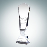 Engraved Optic Crystal Global Golf Award