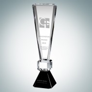 Optic Crystal Exclamation Point Award