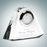 Over the Rainbow Engraved Optic Crystal Clock