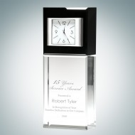 Best Wishes Engraved Optic Crystal Clock