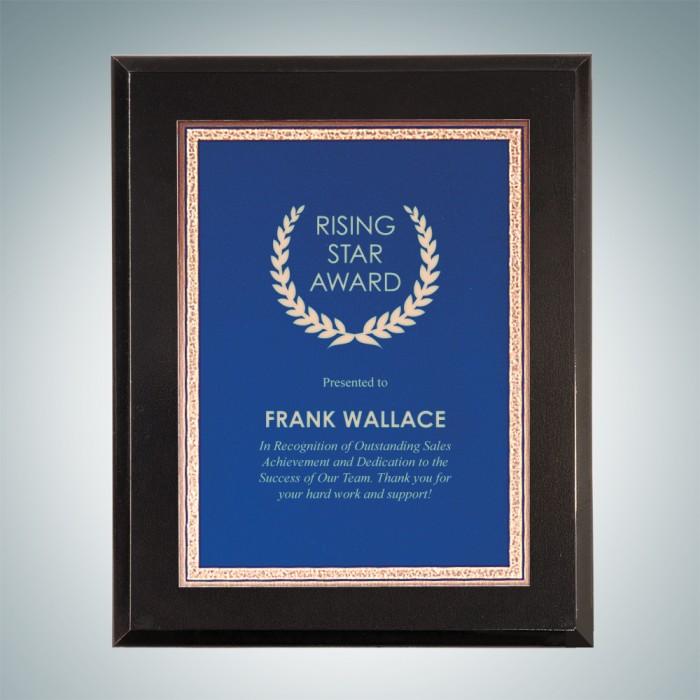 Frames & Plaques High Gloss Solid Blackwood Wall Plaque - Blue ...