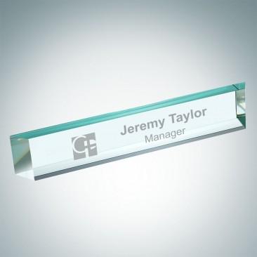Jade Slant Beveled Nameplate