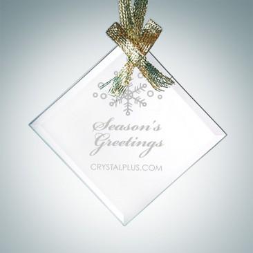 Beveled Square Diamond Ornament