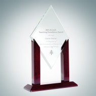 Alpha Jade Diamond Award with Wood Stand