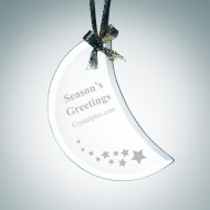 Beveled Moon Shape Ornament