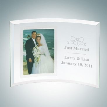 Curved Vertical Silver Photo Frame