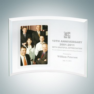 Corporate Curved Vertical Silver Photo Frame