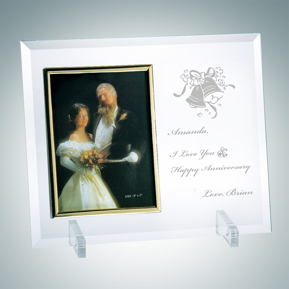 Vertical Gold Photo Frame 5 x 3.5 with Stand